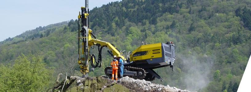 Drilling at mining sites